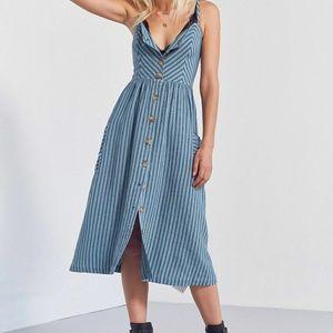 Cooperative UO striped button front midi dress